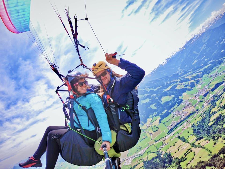 Paragliding Flug